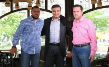 الدكتور عمرو الليثي مع الشيخ محمد الجعبري والداعية مصطفي حسني