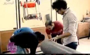 المخترعان مصطفي محمود وأحمد جبر مع د عمرو الليثي